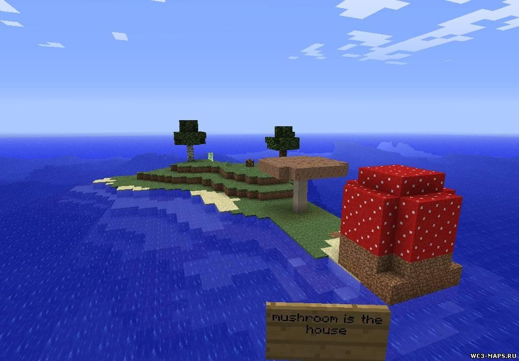 Как сделать свой остров в minecraft 630