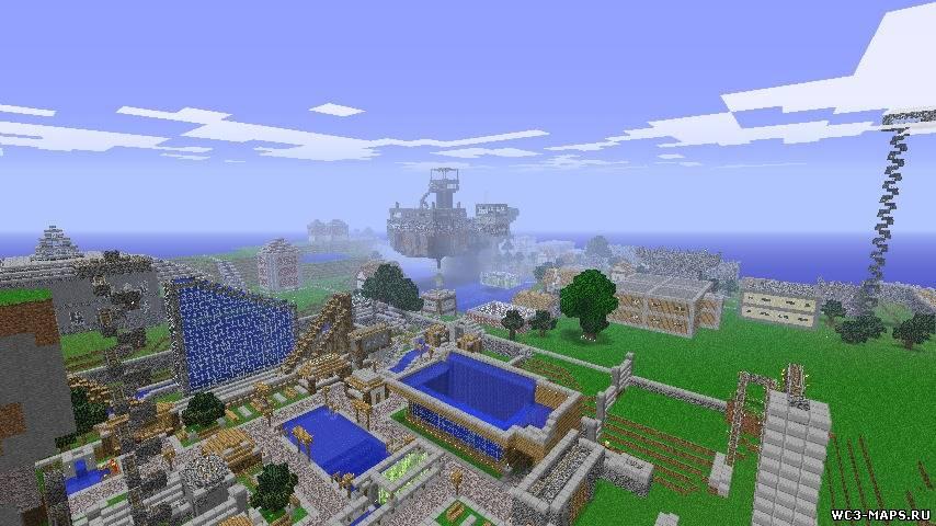 карта города в minecraft