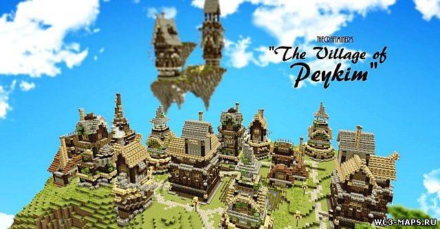 скачать карту русская деревня для minecraft #7
