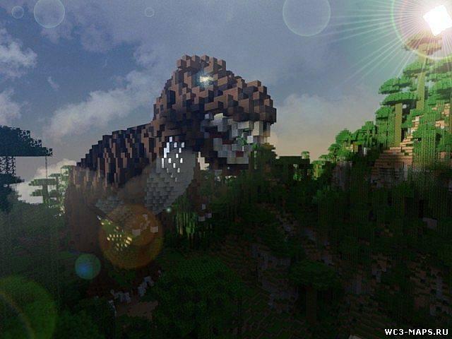 скачать карту парк динозавров для майнкрафт