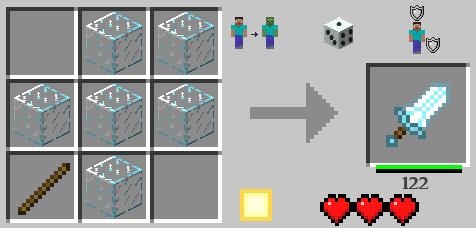 Как в майнкрафте сделать щит в версии 1.9.4