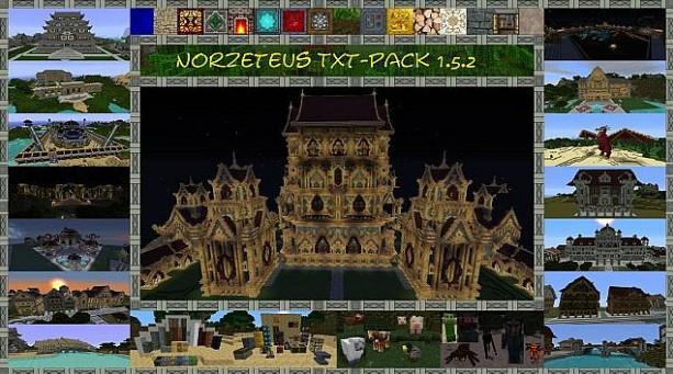 """Ресурс пак """"Norzeteus"""" для Minecraft 1.6.2"""