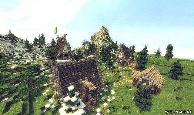 Скачать Карту для Майнкрафт Средневековая Деревня