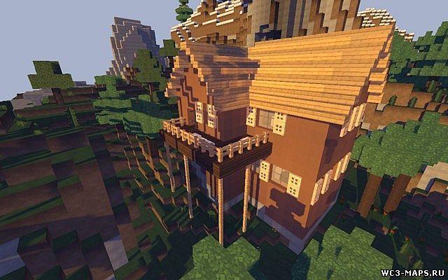дом на дереве карта для майнкрафт 1.7.10 #8