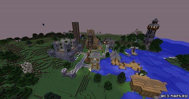 Карта майнкрафт 1.8 средневековый город