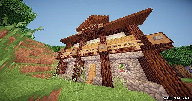 Скачать Карту Деревянный Дом