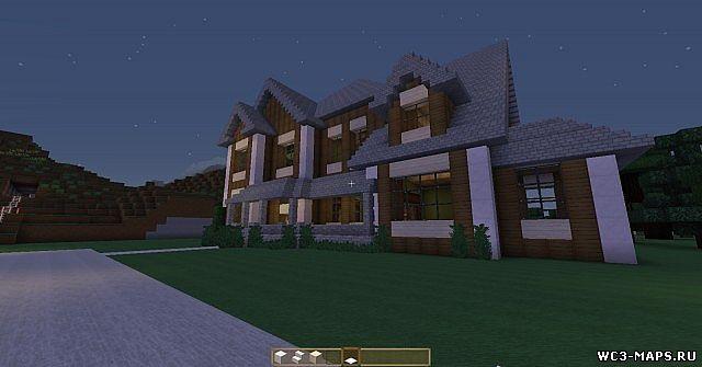 Большой дом майнкрафт 1 7 10