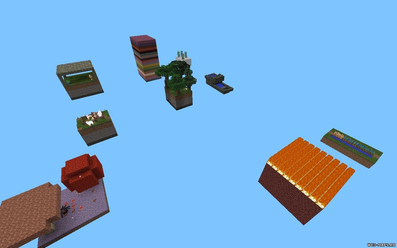 Skyblock карта для minecraft pe 0 9 4 0 9 3 0 9 2