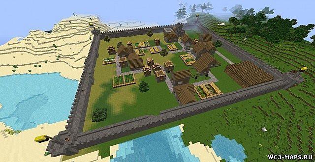 Скачать карту для майнкрафт 1.7.10 маленький городок