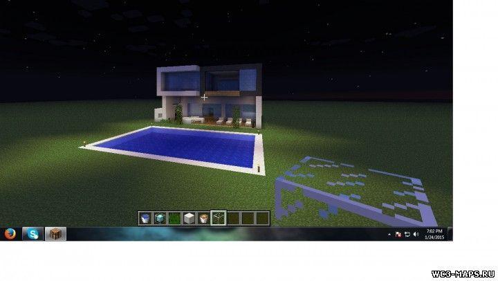 Майнкрафт домом карты на умный