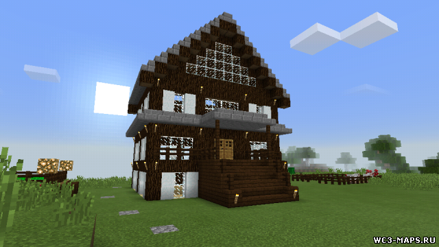 Карта с Красивым Домом для Minecraft