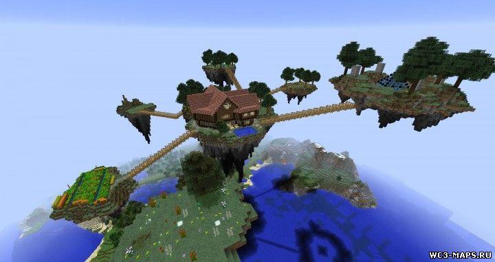 летающий остров карта для minecraft 1.8.3/1.8.2/1.8.1/1.7.10/1.7.2 #1