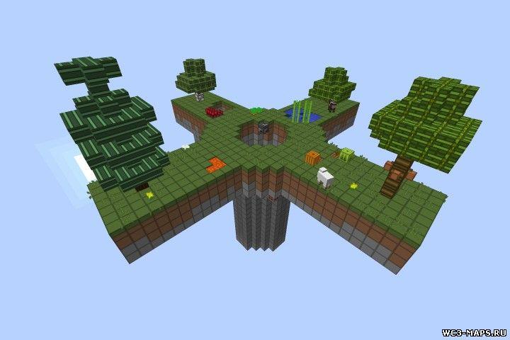 летающий остров карта для minecraft 1.8.3/1.8.2/1.8.1/1.7.10/1.7.2