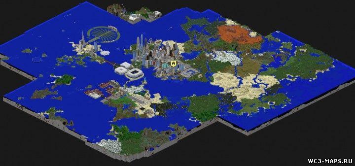 майнкрафт 1.8.3 карты городов #4