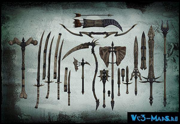 Wulfharths Dragonbone Weapons оружие для Skyrim скачать