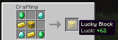 Как сделать лаки блок без модов в майнкрафт 1.9