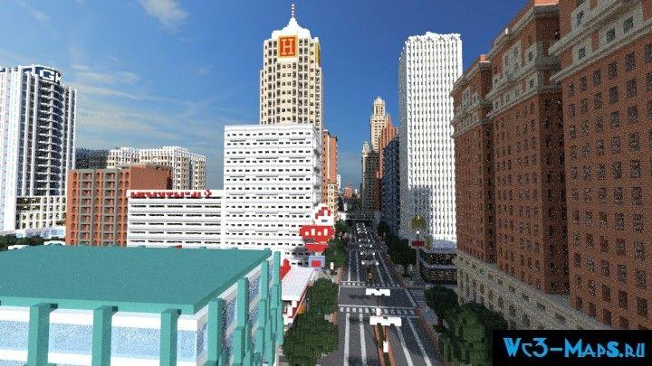 скачать карту город на выживание на майнкрафт - фото 10