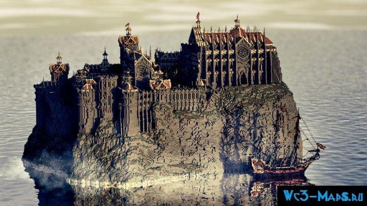 Скачать карту на майнкрафт на замок.