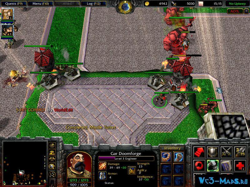 Intense maze tower defense